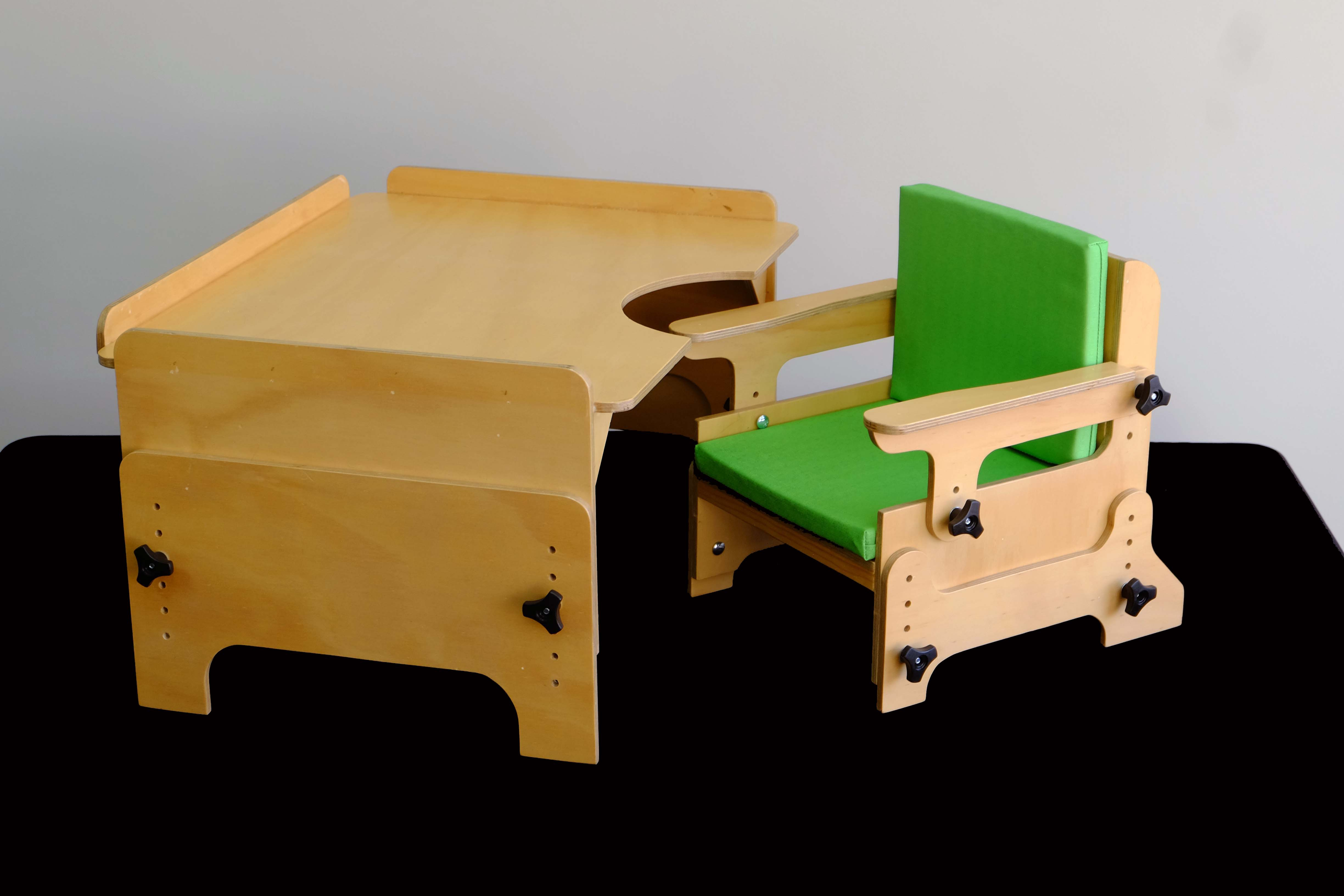 Adjustable Chair and Table
