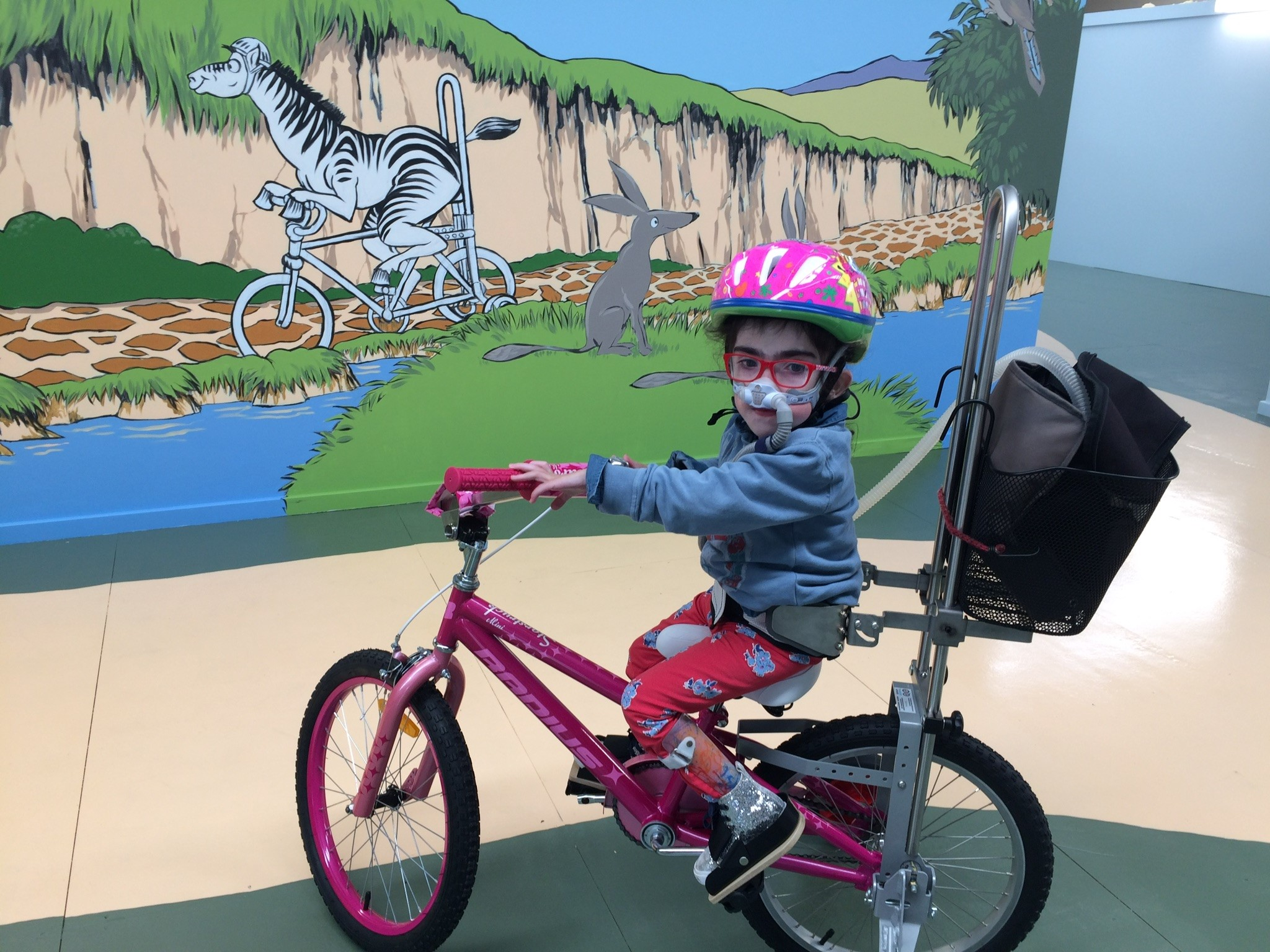 Josie Ellen on her Freedom Wheels bike.